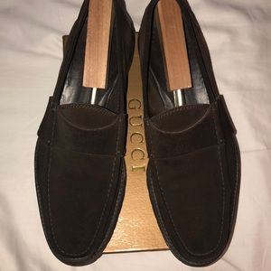 Gucci Brown Suede Shoes 11D